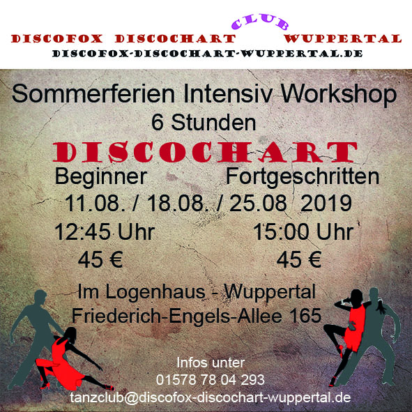 Flyer Discochart Sommer Workshop