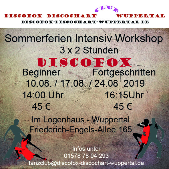 Flyer Discofox Sommer Workshop